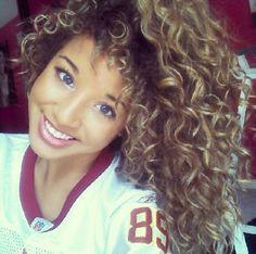 Natural curly hair Jadahdoll, colour