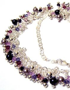 Swarovski Crystal and Pearl Sterling Silver Fringe by OklahomaMama, $75.00