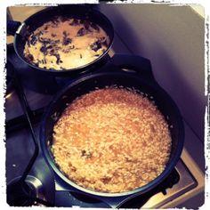 Mushroom Risotto Risotto Rice, Mushroom Risotto, Dried Mushrooms, Stuffed Mushrooms, Arborio Rice, Risotto Recipes, Oatmeal, Homemade, Breakfast