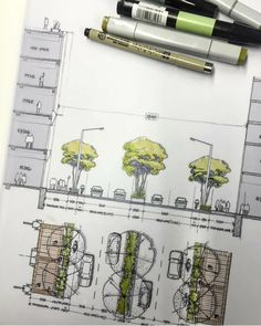 Interesting Find A Career In Architecture Ideas. Admirable Find A Career In Architecture Ideas. Villa Architecture, Landscape Architecture Design, Architecture Graphics, Architecture Drawings, Planer Layout, Urban Landscape, Garden Landscaping, Landscaping Ideas, Shade Landscaping