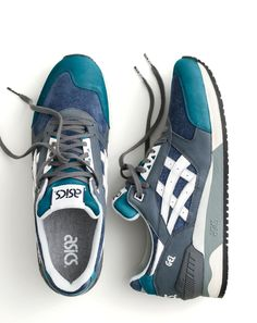 Crew X ASICS®. Our latest limited-edition sneaker collaboration features two exclusive colorways of ASICS' freshly re-released runner, the Gel-Respector™. Mens Fashion Shoes, Men S Shoes, New Shoes, Sneakers Fashion, Shoes Sneakers, Nike Fashion, Urban Look, Zapatillas Casual, Asics Shoes