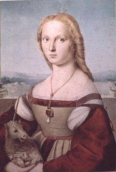 RAFFAELLO. Woman with a Unicorn Portraits of  Women in Italian Renaissance Painting  #TuscanyAgriturismoGiratola