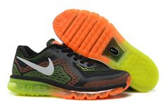 Nike 2014 Air Men's And Women's Air Max Running Shoes Black Orange Fluorescent Green|only US$98.00 - follow me to pick up couopons.