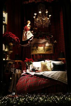Ralph Lauren Holiday Window::  Eye For Design: Decorating With Tartan Plaid......Especially At Christmas