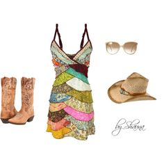 Cowgirl Couture, created by shauna-rogers on Polyvore  This would be perfect for CMA Fest!
