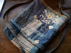 A_little_old_blue bag. Jude Hill - Spirit Cloth Use seam from jeans for strap.