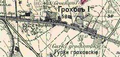 Błędny opis Grochowa II jako pierwszy na mapie z I wś fabryka Geberów Utility Pole