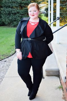 Avenue (sizes 1x-5x) has a nice selection of ruffled shirts for fall. I picked my three favorites to style for the office, weekend, and special events! #avenue #aveplus #avenueplus #loveyourself #ruffle #ruffles #ruffled #ruffledshirts #ootd #psootd #outfit #plussizefashion #plussizeclothing