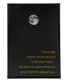 Look at this #zulilyfind! 'I Have Late Night Conversations' Wall Sign #zulilyfinds