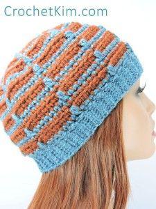 Dashes Beanie by Kim Guzman of CrochetKim
