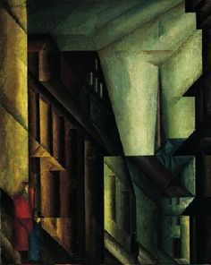 Near the Palace,1914-1915    Lyonel Feininger   American, 1871-1956  Oil on canvas