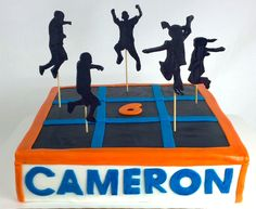 This was such a fun cake to make for a party at #SkyZone #atlanta!  #birthday… …