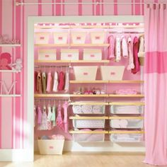 if my husband would just give up his closet our little girl would SO have a space like this! :)