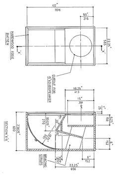 subwoofer speaker box design  using 5