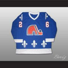 e66af86a17ee Peter Stastny Hockey Jersey Quebec Nordiques 26 Blue or White Body Color  Quebec Nordiques