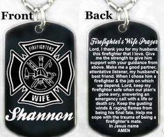 Firefighters Wife Prayer Dog Tag Necklace Key Chain Free Engraving | eBay