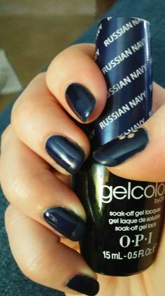 Russian Navy OPI gel with matte tips