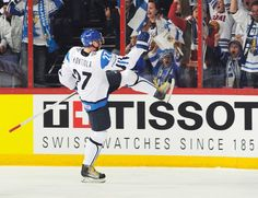 Petri Kontiola celebrates his goal against Germany