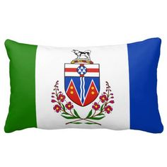 Yukon flag Throw Pillow Pillows
