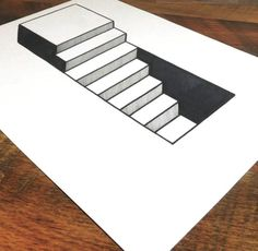 Have you ever wondered how to make your drawings pop and come to life? Learn how to draw 3D steps with The Art of Drawing Optical Illusions. 1.Start by sketching a rectangle. Draw two vertical lines, making sure the spacing on the left side is slightly wider than the space on the right. Draw another vertical […] #Illusion #3ddrawings