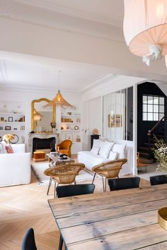 Living Dining Room, Interior Deco, Home Salon, Big Modern Houses, Home, Home Deco, Home N Decor, Beautiful Living Rooms, Home Decor