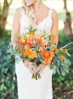 Orange and Yellow Bouquet | Brides.com