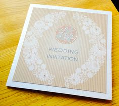 Brown Craft Invitation with Lace