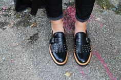 mocassini donna #shoes #studs #loafers