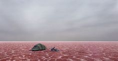 Simplicty, Vastness. The Red of the salt the Grey sky... Photography:Murray Fredericks