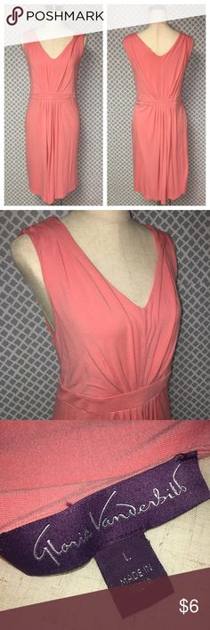 Gloria Vanderbilt Pink Empire Waist Dress ▪️ Description: Gloria Vanderbilt solid pink empire waist Cotton dress. Length is below the knee. Perfect for summer & spring. Women's size Large which is equivalent to a size 14/16 in Gloria Vanderbilt's line of plus size clothing :)  ▪️ Measurements: * Pit to Pit - 20 inches * Shoulder to Hem - 37.5 inches *  ▪️ Condition: Very good used condition.          💎Price is Firm💎 ⭐️15% Off All Bundles ⭐️ 💞💞💞💞💞💞💞💞💞💞 Gloria Vanderbilt Dresses…