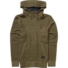 Billabong Unisex Rasta Pullover Hoodie ($70) ❤ liked on Polyvore featuring tops, hoodies, canteen, fleece, billabong hoodie, hooded pullover sweatshirt, brown hoodie, hoodie pullover and long sleeve pullover