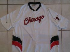 Rare Vintage MAJESTIC Chicago Bulls NBA Warm Up Jacket Men's  4XL SEWN STITCH #ChicagoBulls
