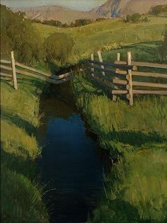 Fenced - Oil by Josh Clare