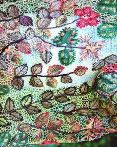 Detail of Irish Crochet Shawl pieces) Freeform Crochet, Crochet Art, Thread Crochet, Irish Crochet, Crochet Shawl, Crochet Flowers, Free Crochet, Tatting, Creative Embroidery