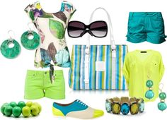 Citrus and Aqua, created by sonia-roxy-m on Polyvore