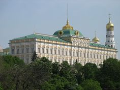 The Grand Kremlin Palace, built from 1837|49 was formerly the tsar's Moscow residence. Its construction involved the demolition of the previous Baroque palace on the site, designed by Rastrelli, and the Church of St. John the Baptist, constructed to a design by Aloisio the New in place of the first church ever built in Moscow.