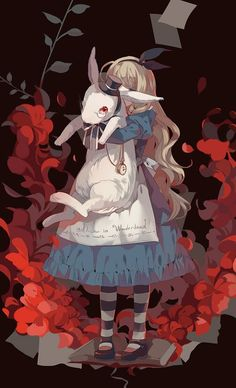 anime styled Alice in Wonderland illustration Art Manga, Manga Anime, Anime Art, Chesire Cat, Alice Madness, Image Manga, Adventures In Wonderland, Wonderland Alice, Wonderland Tattoo