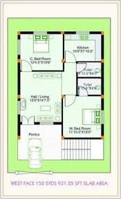 West facing small house plan google search ideas for for 25x50 house plan