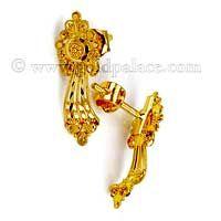 Gold Hoop Earrings With Enamel 22 Karat Jewelry Pinterest Gold