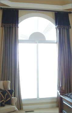 1000 images about arched window treatments ideas on for Window treatment for oval window