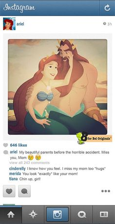 Humor: What if Disney Princesses Shared Photos on Instagram? ariel