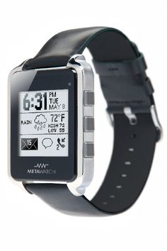 Meta Watch declares Wireless smartwatch for iPhone OS Wearable Device, Wearable Technology, Technology Gadgets, Electronics Gadgets, Latest Technology, Stylish Watches, Cool Watches, Watches For Men, Pebble Watch
