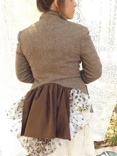 "#1003 : Bustle Animal Print and Brown Linen by Jo Stewart Wray $129 www.jostewartwray.com Repin and text ""Enter me now."" to 662-417-2651 to win a bespoke blazer like those on the site."