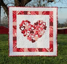 Craftsy Quilting Pattern - Valentine Quilt with Heart    Maureen Rosetti- this one's for you!!
