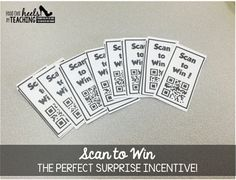 Spark Student Motivation: Scan to Win Reward Tickets-the perfect way to incorporate technology and excite your students!