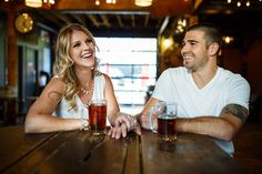 Brewery craft beer engagement session,