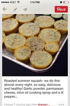 Roasted summer squash
