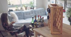 An Illusionist Has Created A Wine Rack That Makes Bottles Disappear