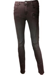 My Christy Skinny broek met stiksels - bruin http://www.beyou-dameskleding.nl/