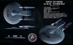 U.S.S. Chekov - NCC-57302 - Springfield Class - Destroyed at the Battle of Wolf 359